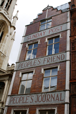 The building on Fleet Street that is believed to have been Sweeny Todd's barber shop.