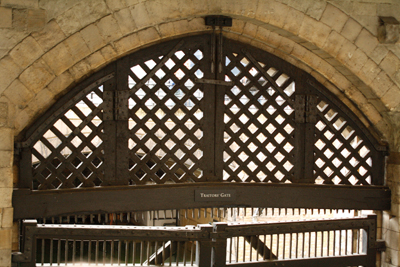Traitor's Gate, where prisoners, including Elizabeth I at one point, were brought into the Tower to await trial and usually execution.